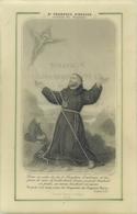 SAINT FRANCOIS D'ASSISE RECEVANT LES STIGMATES - BELLE IMAGE CELLULOÎDE Datée 1893 - Images Religieuses