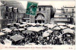 76 - CPA ROUEN - MARCHE PLACE DE LA HAUTE VIEILLE TOUR - EXC ETAT - - Rouen