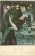 """Coppia Di Innamorati, """"nel Sobborgo"""" Riproduzione Da Orig., Reproduction, Illustrazione, Nanni Illustratore (E59) - Coppie"""