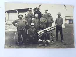 CPA 1912 Groupe D'Artilleurs 3 ème Compagnie D'Artillerie à Casablanca Au Maroc - Regiments