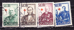 -Finlandia 1937-Pro Croce Rossa I -Serie Completa Usata - Usati
