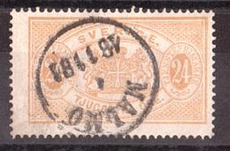 Suède - 1881/96 - Timbre De Service N° 8 - Dentelé 13 - Service