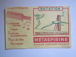 BUVARD METASPIRINE Aspirine Composé Tonique Série Sport La Natation - Produits Pharmaceutiques