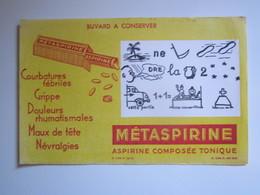 BUVARD : Produit Pharmacie : Metaspirine Aspirine Le Rébus - Produits Pharmaceutiques