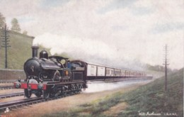 AO24 Trains - Wild Irishman, LNWR, Taking Water At Bushey - Tuck Oilette - Trains