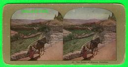 CARTES  STÉRÉOSCOPIQUES - THE VALLEY OF HINNOM, PALESTINE - ANIMATED - No 40 - - Stereoskopie