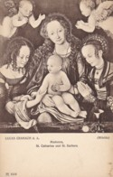 AS81 Religious Art Postcard - Madonna, St. Catharina Und St. Barbara By Lucas Cranach - Paintings, Stained Glasses & Statues