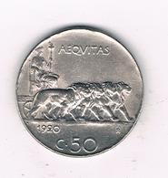 50 CENTESIMI  1920  R   ITALIE /6173/ - 1861-1946 : Royaume