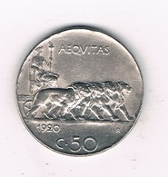 50 CENTESIMI  1920  R   ITALIE /6173/ - 1861-1946: Königreich