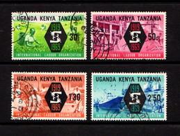 KENYA  UGANDA  TANZANIA    1969    50th  Anniv  Of  Labour  Organization     Set  Of  4    USED - Kenya, Uganda & Tanganyika