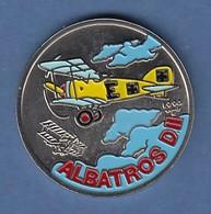 Kuba 1 Peso Silbermünze Flugzeug Albatros DII 1994 Coloriert Cu/Ni - Münzen