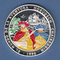 Arab. Rep. Sahara 1000 Pesetas Silbermünze Korsarenbrüder 1996 Coloriert Ag999 - Münzen