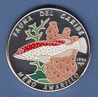 Kuba 10 Pesos Silbermünze Zackenbarsch 1994 Coloriert Ag 999 - Münzen