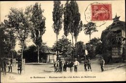 Cp Robinson Hauts De Seine, Restaurant Du Vrai Arbre De Robinson, Esel - Francia