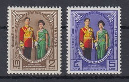 Thailand 1965 15. Hochzeitstag Des Königl. Paares Satz Mi.-Nr. 444-45 ** / MNH - Tailandia