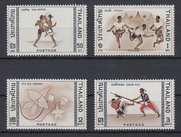 Thailand 1966 Einheimische Sportarten Satz Mi.-Nr. 476-79 ** / MNH - Tailandia