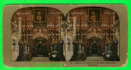 CARTES  STÉRÉOSCOPIQUES - INTERIOR OF CHURCH OF THE HOLY SEPULCHRE, JERUSALEM - No 37 - - Stereoskopie