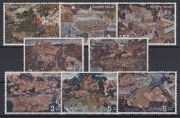 Thailand 1973 Gemälde Satz Mi.-Nr. 677-84 ** / MNH - Tailandia