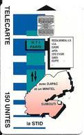 CARTE-PUCE-OPT-DJIBOUTI-150U--SC7-La STID-V° N° C 5A154110-décallé Dans LogoSchlum-TBE - Djibouti