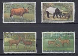 Thailand 1976 Tierschutz Satz Mi.-Nr. 827-830 **/ MNH - Thailand