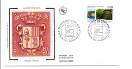 ANDORRE FDC 1998 MUSEE POSTAL - FDC