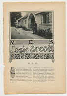 """Charles Géniaux """"Josic Arcoët"""" (article Sur Un Breton, Tiré Du Monde Moderne, 1904) - Bretagne"""