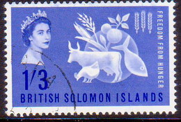 BRITISH SOLOMON ISLANDS 1963 SG #100 1sh3d Used Freedom From Hunger - British Solomon Islands (...-1978)