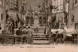 Cpa 59 DOUAI  Hôtel-Dieu (Hôpital) La Chapelle , Militaires Et Soeurs En Cornette Priant Le 11 Novembre 1920 , Rare ++ - Douai