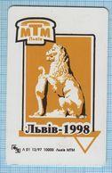 UKRAINE / LVIV/ Phonecard Phone Card Ukrtelecom. MTM Architecture Lion. 12/1997 - Oekraïne