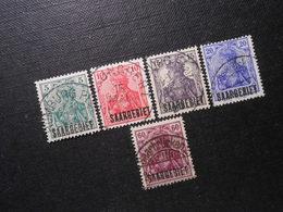 D.R.Mi 32/33a/34a/35/39b - Abstimmungsgebiete (Saargebiet) 1920 - Mi 4,40 € - Allemagne