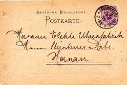 ALLEMAGNE. N°37 Sur Carte Ayant Circulé En 1888. Oblitération : Frankfurt. - Briefe U. Dokumente