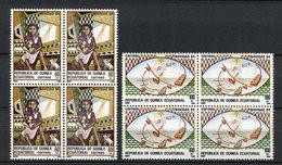 Guinea Ecuatorial 1984. Edifil 63-64 X 4 ** MNH. - Äquatorial-Guinea