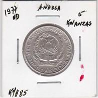 ANGOLA COIN - 5 KWANZAS 1977 - Angola
