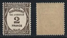 FRANCIA 1927 / 31 - SEGNATASSE - N.° 62 Nuovo ** - Cat. 335 € - Singolo ALTO VALORE - L. 1627 - Segnatasse