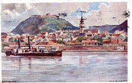 HAINBURG Von Der Donau Aus, Kunstkarte Josef Schmidt (1873-1963), 3.9.1933 - Hainburg