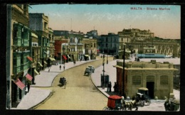 Ref 1321 - Early Postcard - Sliema Marina Malta - Malta