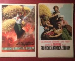 Boccasile Riunione Adriatica Sicurta' 2 Carte Assorbenti Anni 30/40 - Agricoltura