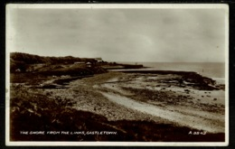 Ref 1321 - Real Photo Postcard - The Shore From The Golf Links - Castletown Isle Of Man - Isle Of Man