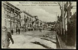 Ref 1321 - Early Postcard - Avenue Du Roi Constantin Salonique Salonica Thessaloniki Greece - Greece