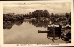 Cp Vinneuf Yonne, Péniches, L'Yonne Marchande à Port Bernard - Other Municipalities