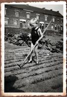 Photo Originale Guerre Oblige Travail Au Potager D'un Gamin En Maillot De Bain En 1941 - War, Military