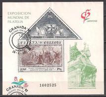 Spanien (1992)  Mi.Nr.  Block 44  Gest. / Used  (3bl-02.15) - 1931-Heute: 2. Rep. - ... Juan Carlos I