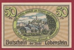 Allemagne 1 Notgeld De 50 Pfenning Stadt Lobenstein UNC N °4540 - [ 3] 1918-1933: Weimarrepubliek