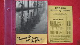"""Livret Pub  Pour Citroen Traction Avant. Berline """"7"""" Ou """"11 Légère """" + Petit Tarif De 1937 . 10 Pages , 8 Photos - Pubblicitari"""