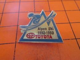 813e  Pin's Pins / Rare Et  Belle Qualité !!! THEME : AUTOMOBILES / TOYOTA ALPEN SKI 1992-1993 - Toyota