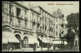 Ref 1321 - Early Postcard - Sheapheard's (error) Hotel - Shepheard's Hotel Cairo Egypt - Cairo