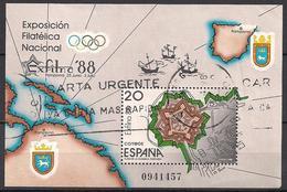 Spanien (1988)  Mi.Nr.  Block 32  Gest. / Used  (3bl-02.11) - 1931-Heute: 2. Rep. - ... Juan Carlos I