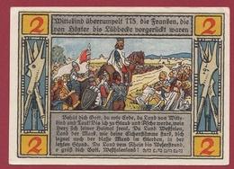 Allemagne 1 Notgeld De 2 Mark Stadt Lübbecke (RARE) Dans L 'état N °4548 - Verzamelingen