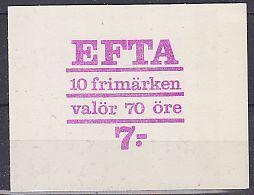 Sweden 1967 Efta Booklet ** Mnh (44204) - Europese Gedachte