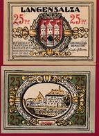 Allemagne 1 Notgeld De 25 Pfenning Stadt Langensalza (RARE) Dans L 'état N °4552 - Verzamelingen